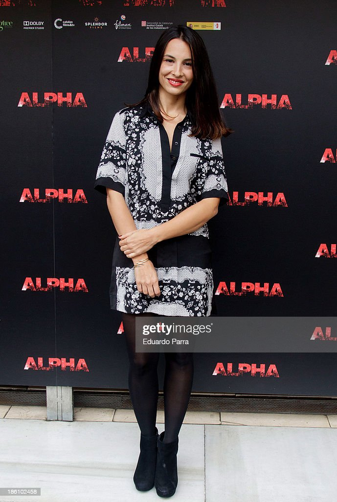 Xenia Tostado attends 'Alpha' press conference photocall at Princesa cinema on October 28, 2013 in Madrid, Spain.