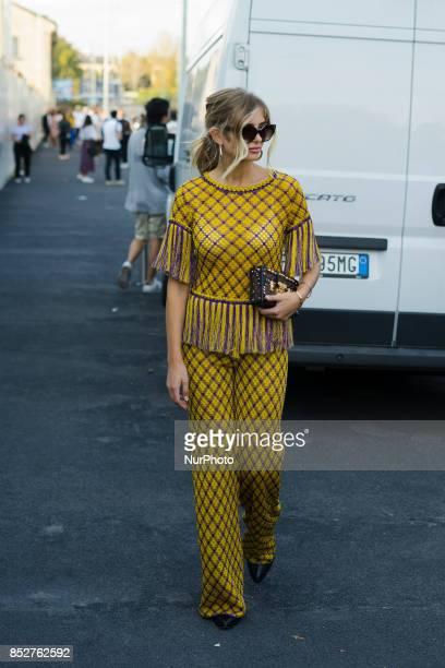 Xenia van der Woodsen is seen outside Missoni during Milan Fashion Week Spring/Summer 2018 on September 23 2017 in Milan Italy