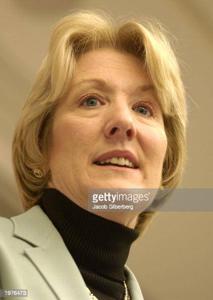 Xerox CEO Anne Mulcahy speaks to the Northeastern University CEO Breakfast Forum May 6 2003 in Boston Massachusetts Mulcahy spoke about her company's...