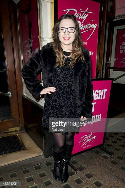 Xfactor contestant Abi Alton seen at 'Dirty Dancing' at the Piccadilly Theatre on December 11 2013 in London England