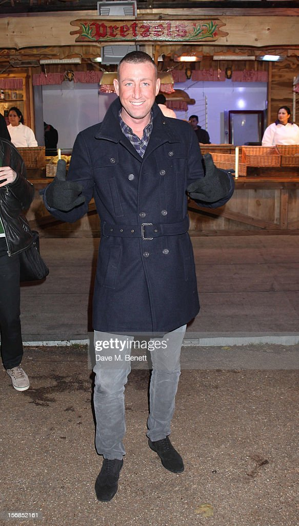 X-Factor contestant Christopher Maloney attends the Winter Wonderland - Launch Party in Hyde Park on November 22, 2012 in London. England.