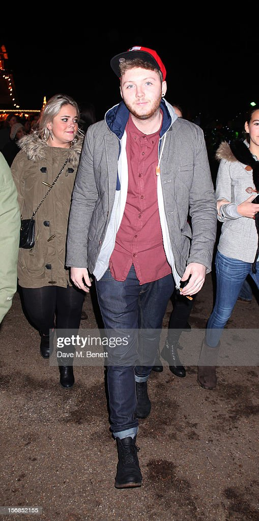 X-Factor contestant James Arthur attends the Winter Wonderland - Launch Party in Hyde Park on November 22, 2012 in London. England.