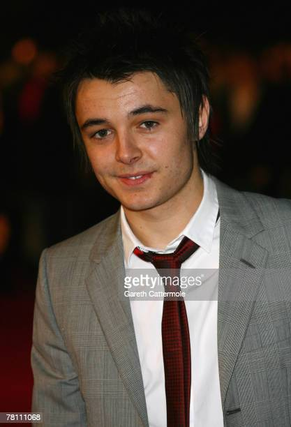 Factor contestant Leon Jackson attends the World Premiere of 'The Golden Compass' at the Odeon Leicester Square on November 27 2007 in London England