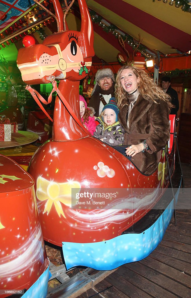 X-Factor contestant Melanie Masson attends the Winter Wonderland - Launch Party in Hyde Park on November 22, 2012 in London. England.