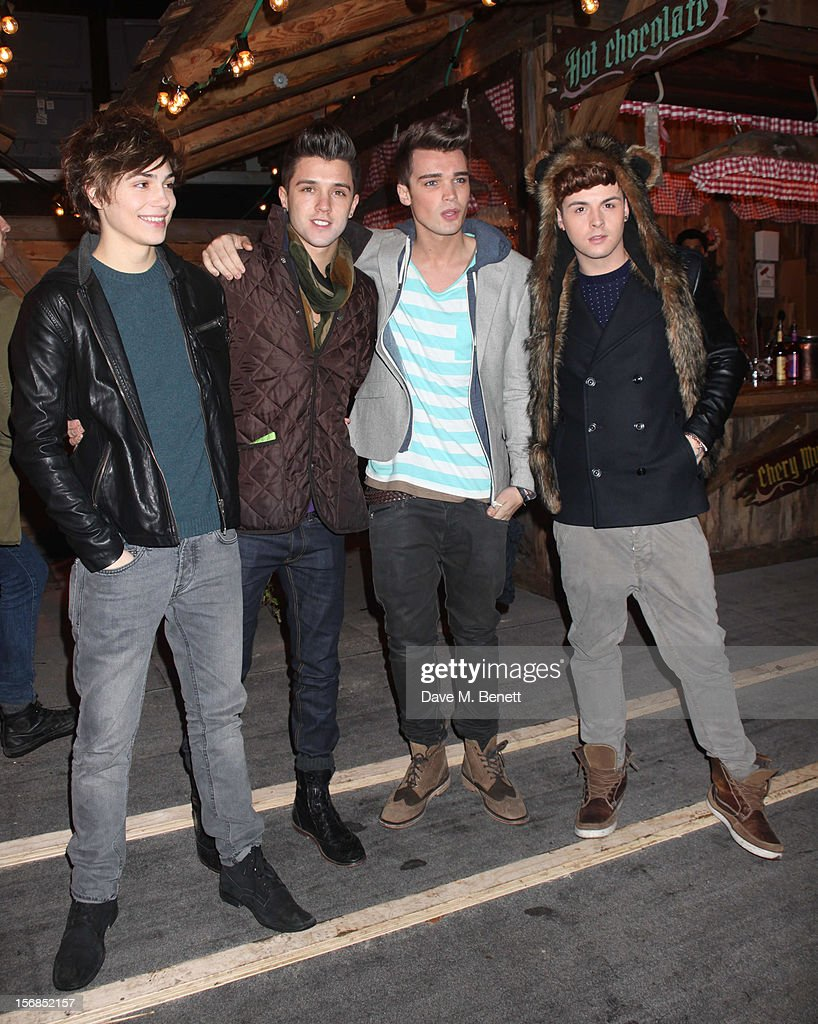 X-Factor contestants Union J attend the Winter Wonderland - Launch Party in Hyde Park on November 22, 2012 in London. England.