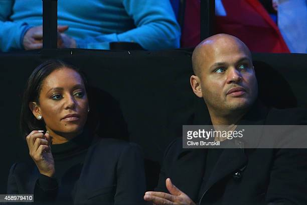 Xfactor judge and Spice Girl Mel B and husband Stephen Belafonte watch Marin Cilic of Croatia in action in the round robin singles match against Stan...