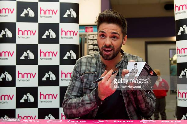 Factor winner Ben Haenow attends meet and greet with fans to sign copies of his debut single 'Something I Need' at HMV store Queen Street on December...
