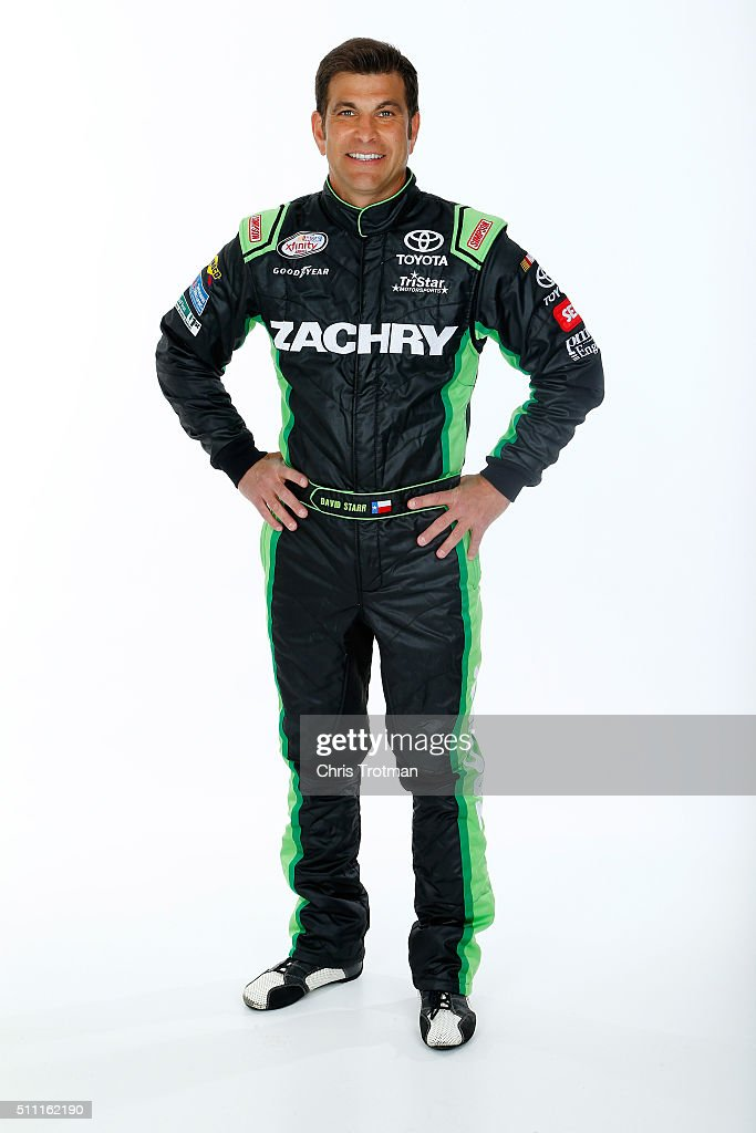 Xfinity Series driver <a gi-track='captionPersonalityLinkClicked' href=/galleries/search?phrase=David+Starr&family=editorial&specificpeople=700309 ng-click='$event.stopPropagation()'>David Starr</a> poses for a photo at Daytona International Speedway on February 17, 2016 in Daytona Beach, Florida.