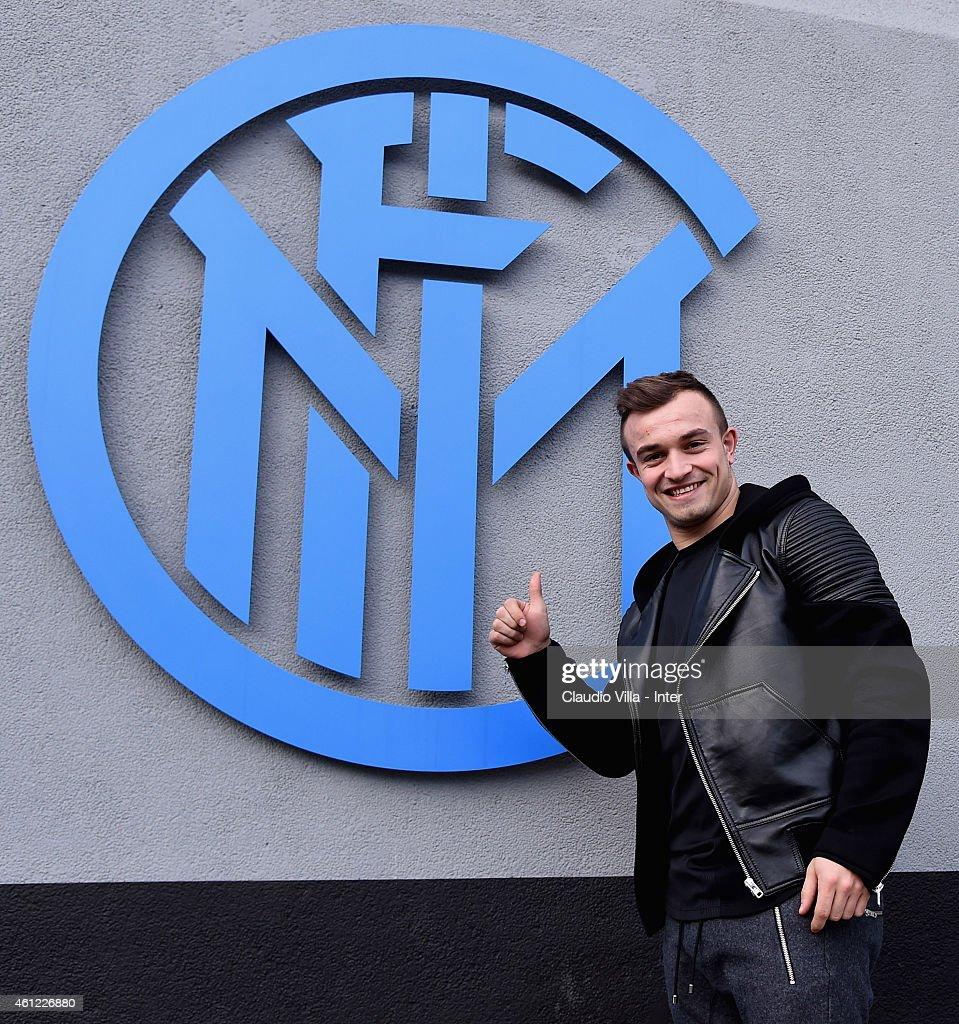 FC Internazionale Milano Unveil New Signing Xherdan Shaqiri