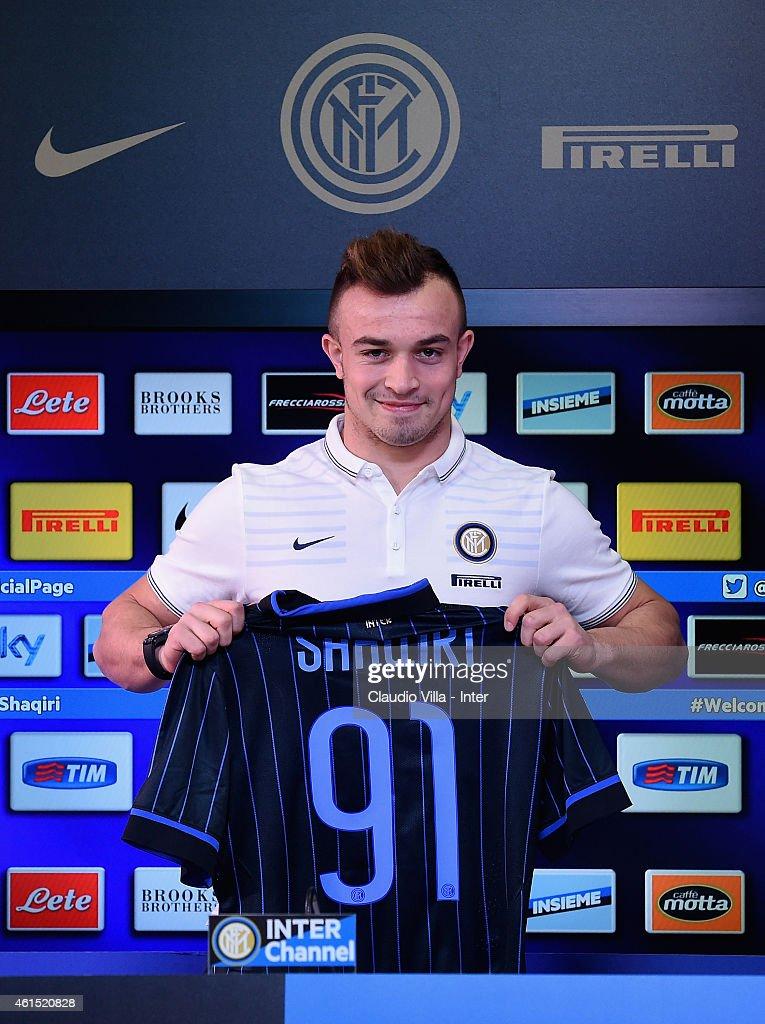 FC Internazionale Unveils New Signing Xherdan Shaqiri
