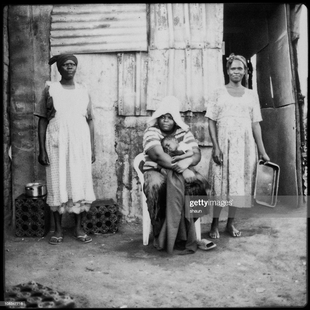 Xhosa Family | Mthatha Polaroid Series : Stock Photo