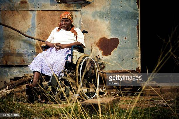 Xhosa woman in a wheelchair
