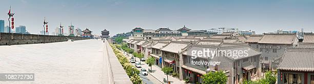Xi'an ancient city walls modern downtown cityscape
