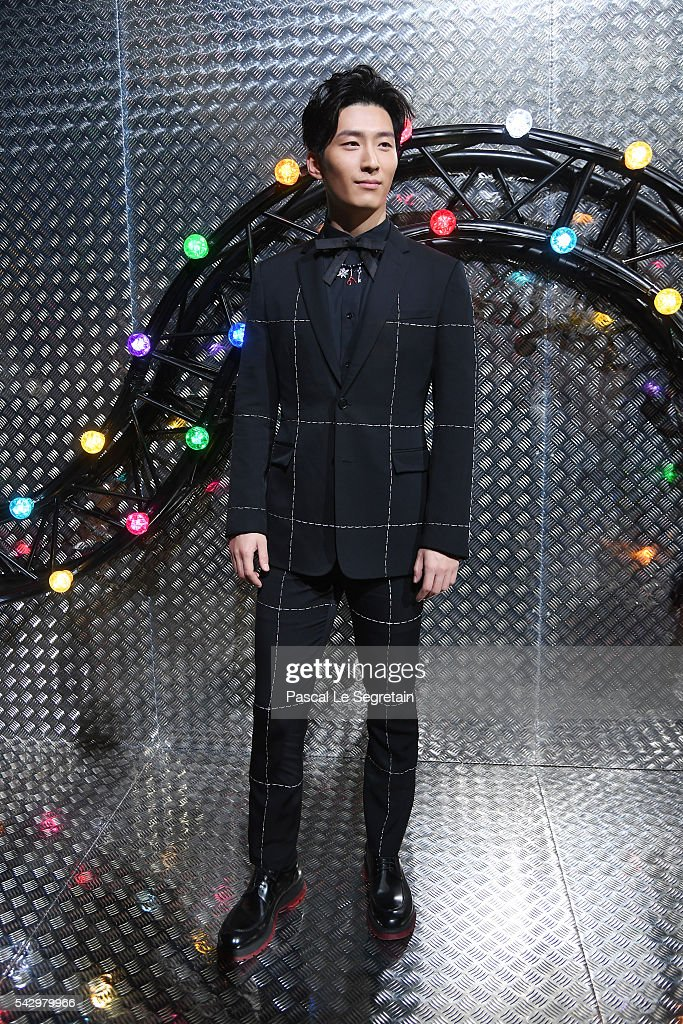 Xiao Dou attends the Dior Homme Menswear Spring/Summer 2017 show as part of Paris Fashion Week on June 25, 2016 in Paris, France.