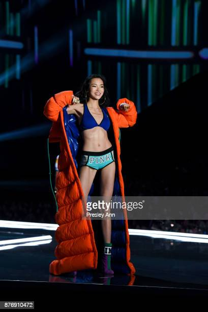 Xiao Wen attends 2017 Victoria's Secret Fashion Show In Shanghai Show at MercedesBenz Arena on November 20 2017 in Shanghai China