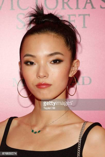 Xiao Wen attends the 2017 Victoria's Secret Fashion Show After Party on November 20 2017 in Shanghai China