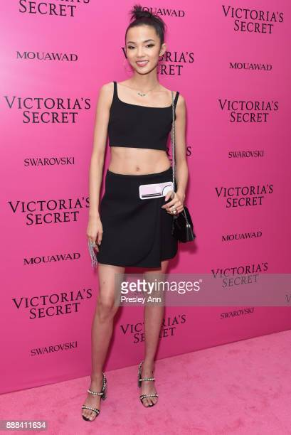 Xiao Wen Ju attends 2017 Victoria's Secret Fashion Show In Shanghai After Party at MercedesBenz Arena on November 20 2017 in Shanghai China