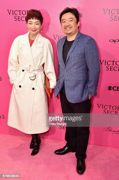 Xiao Xue and Xing Wen Ning attend the 2017 Victoria's Secret Fashion Show In Shanghai Pink Carpet Arrivals at MercedesBenz Arena on November 20 2017...