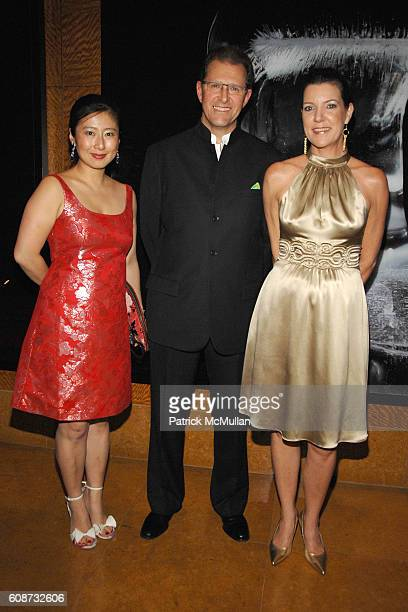 Xiaoming Zhang Edouard Ettedgui and Jill Kluge attend MANDARIN ORIENTAL HOTEL GROUP Party for the SOTHEBY'S Contemporary Asian Art Exhibition at The...