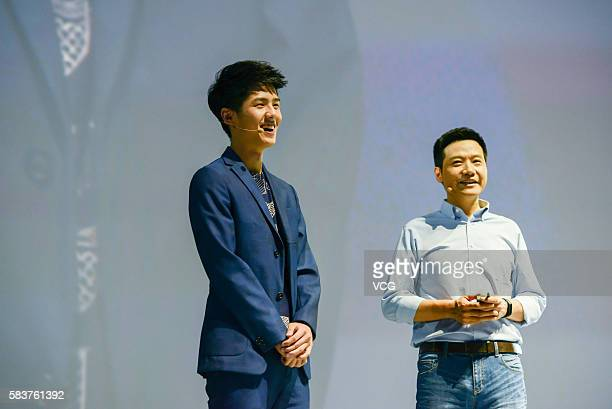 Xiaomi's CEO Lei Jun attends a new products launch event as Xiaomi unveils latest dualcamera wielding Redmi Pro phone and 133inch Mi Notebook Air...
