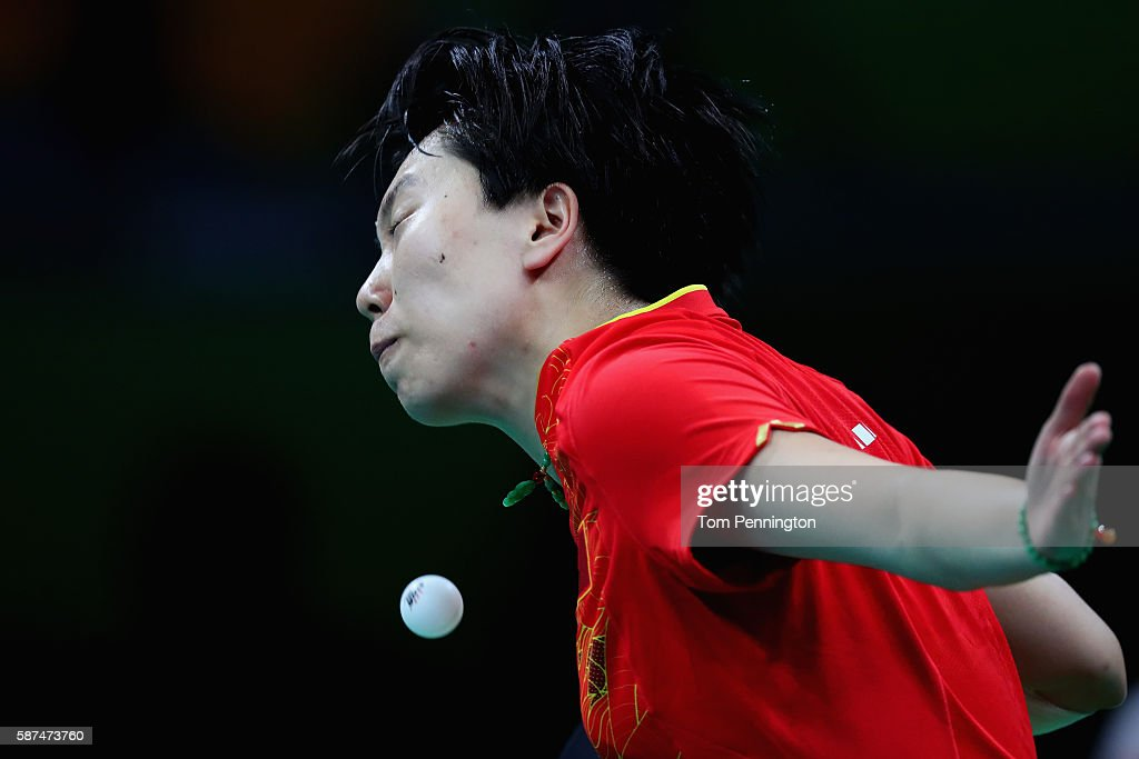Xiaoxia Li of China competes against Ho Ching Lee of Hong Kong, China during Round 4 of the Women's Singles Table Tennis on Day 3 of the Rio 2016 Olympic Games at Riocentro - Pavilion 3 on August 8, 2016 in Rio de Janeiro, Brazil.