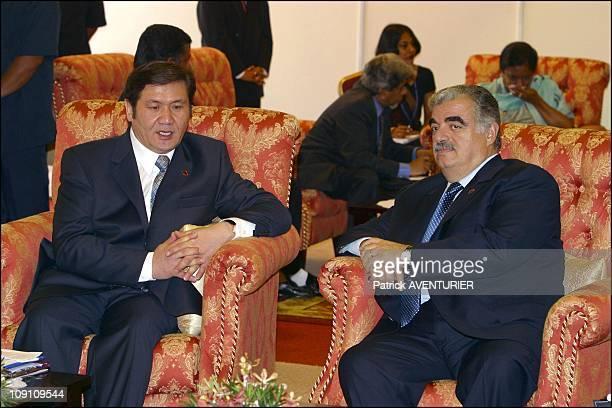 XIIIth Nam Summit'S Ministerial Meeting At Merdeka Hall Pwtc Kuala Lumpur On February 23Th 2003 In Kuala Lumpur Malaysia Mongolian Prime Minister...