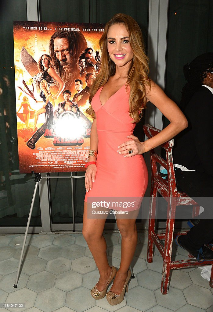 Ximena Cordoba attends the 'Machete Kills' Screening - Post-Reception at Soho House on October 10, 2013 in Miami Beach, Florida.