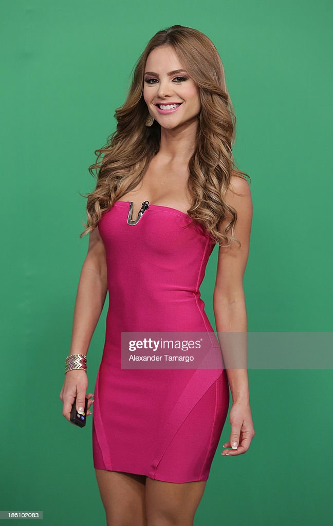 Ximena Cordoba is seen on the set of Despierta America for simulcast with 'Good Morning America' and Fusion's the Morning Show' at Univision Headquarters on October 28, 2013 in Miami, Florida.