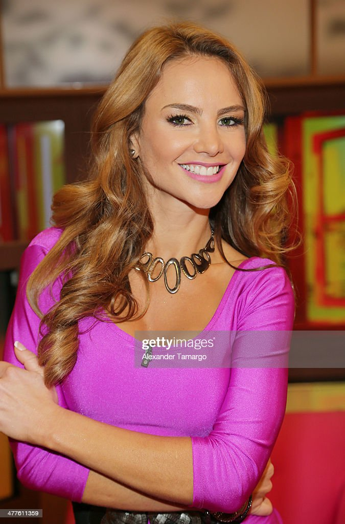 Ximena Cordoba is seen on the set of Univision's Despierta America morning show at Univision Headquarters on March 10, 2014 in Miami, Florida.