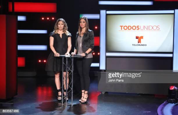 Ximena Duque and Erika Csiszer onstage during TODOS UNIDOS Telemundo's Primetime Special from Cisneros Studio on September 24 2017 in Miami Florida