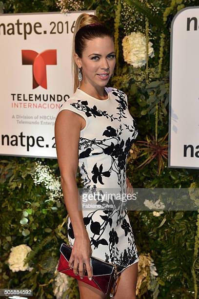 Ximena Duque attends Telemundo NATPE party on January 19 2016 in Miami Beach Florida