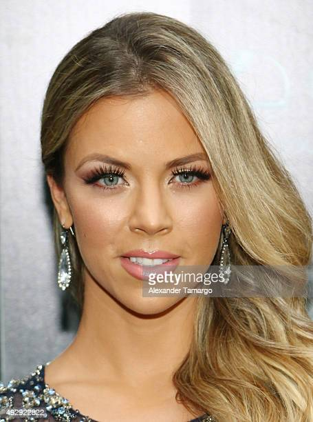 Ximena Duque is seen arriving at the Latin Songwriters Hall of Fame La Musa Awards at The Fillmore Miami Beach at Jackie Gleason Theatre on October...