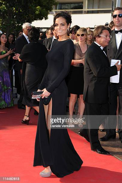 Ximena Navarrete attends the 'La Source Des Femmes' Premiere during the 64th Cannes Film Festival at the Palais des Festivals on May 21 2011 in...