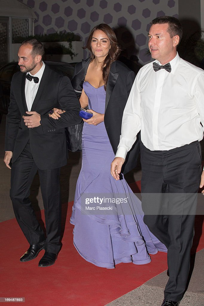 Ximena Navarrete (C) is seen leaving the 'Agora' dinner during the 66th Annual Cannes Film Festival on May 25, 2013 in Cannes, France.
