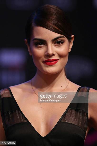 Ximena Navarrete poses during the presentation of the 9th edition of 'Elle Mexico Designs 2015' at Bosque de Chapultepec on June 18 2015 in Mexico...