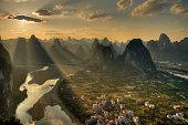 Xingping sunset