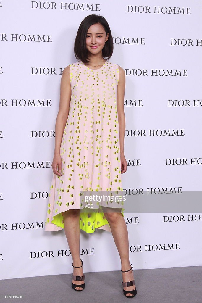 Xinyi Zhang attends the Dior Homme F/W 2013 Menswear Collection Show on April 25, 2013 in Beijing, China.