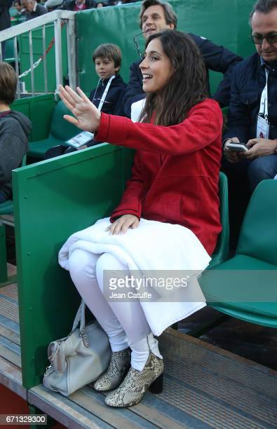 Xisca Perello attends Rafael Nadal quarter final on day 6 of the MonteCarlo Rolex Masters an ATP Tour Masters Series 1000 on the clay courts of the...
