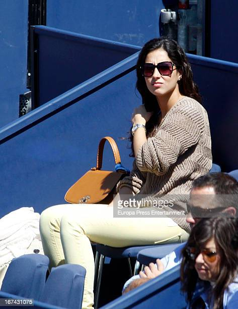Xisca Perello attends the ATP 500 World Tour Barcelona Open Banc Sabadell 2013 tennis tournament at the Real Club de Tenis on April 24 2013 in...