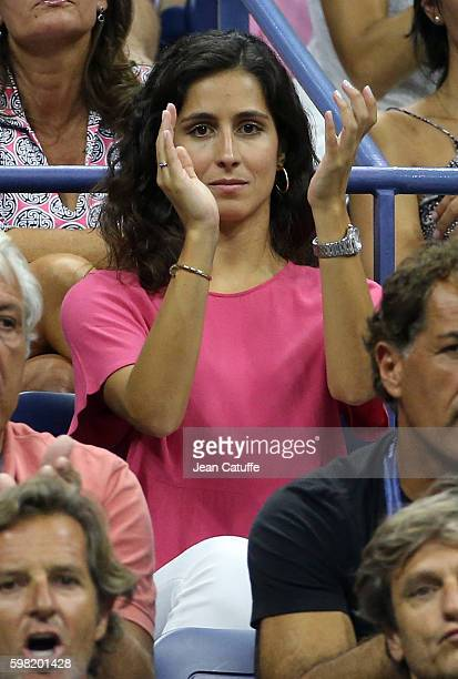 Xisca Perello cheers for Rafael Nadal of Spain during his second round match on day 3 of the 2016 US Open at USTA Billie Jean King National Tennis...