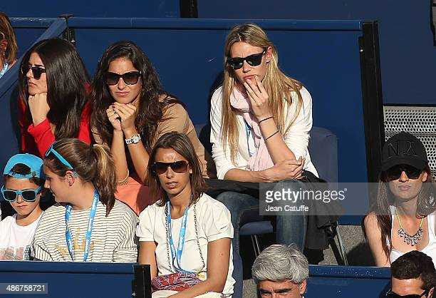 Xisca Perello girlfriend of Rafael Nadal and his sister Maribel Nadal cheer for him during day five of the ATP Tour Open Banc Sabadell Barcelona 2014...
