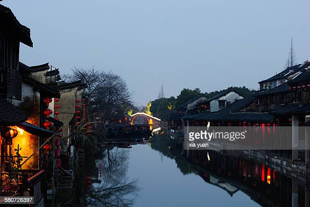 Xitang ancient town in the dawn