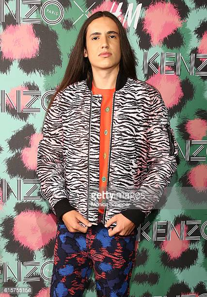 Xiuhtezcatl Martinez attends KENZO x HM Arrivals at Pier 36 on October 19 2016 in New York City