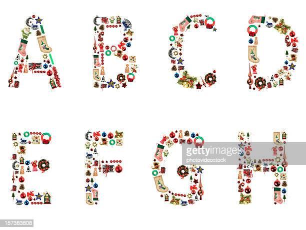 XXL Weihnachten Alphabet