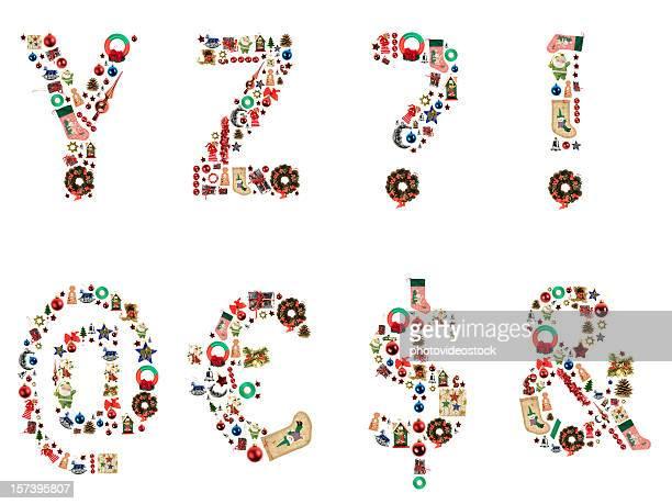 XXL Noël Lettre de l'Alphabet