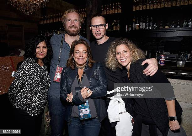 Xochi Birch Philippe de Bourbon Susan Turley Michael Birch and Allison Duncan attend the Film Independent International Documentary Association Oovra...