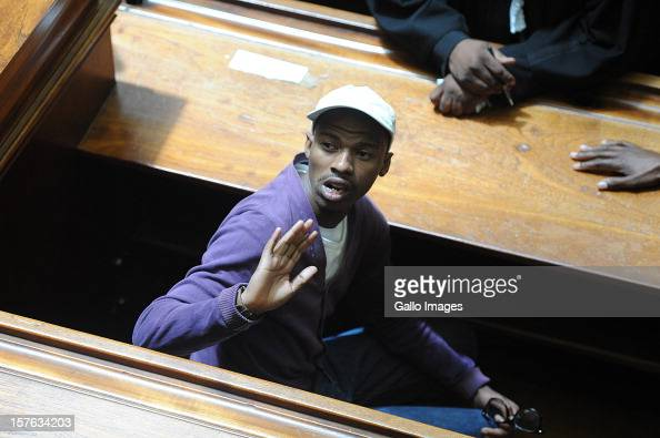 Xolile Mngeni in the Cape Town High Court on December 5 2012 in Cape Town South Africa Mngeni was sentenced to life in prison for the murder of Anni...