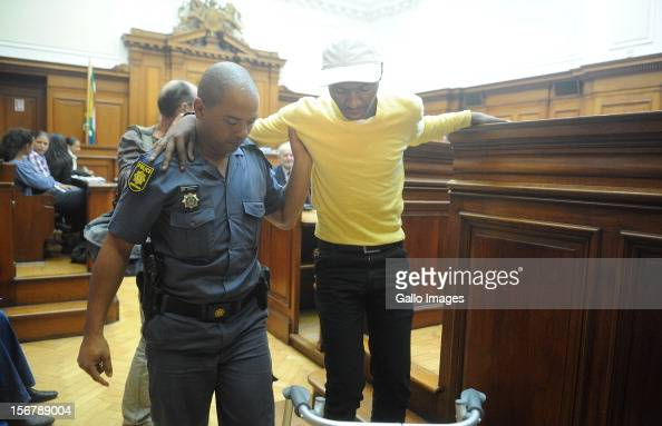SOUTH AFRICA OUT Xolile Mngeni in the Cape Town High Court on November 21 2012 in Cape Town South Africa Mngeni was found guilty of robbery with...