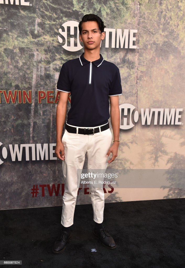 Xolo Maridueña attends the premiere of Showtime's 'Twin Peaks' at The Theatre at Ace Hotel on May 19, 2017 in Los Angeles, California.