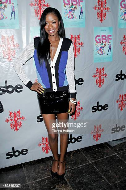 Xosha Roquemore attends the 'GBF' DVD release party at The Abbey on February 13 2014 in West Hollywood California